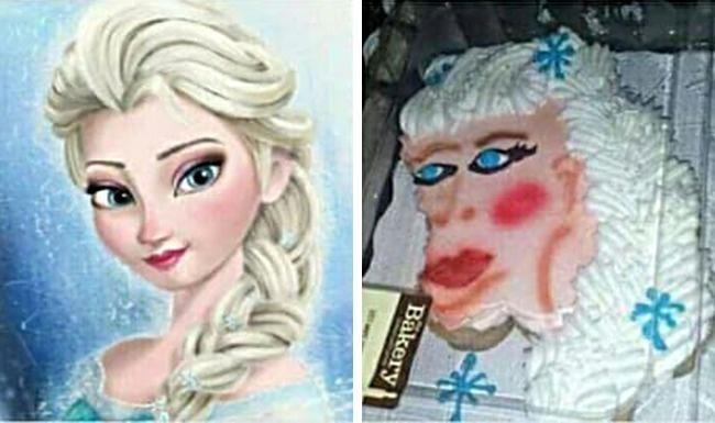 Failed Elsa Cake